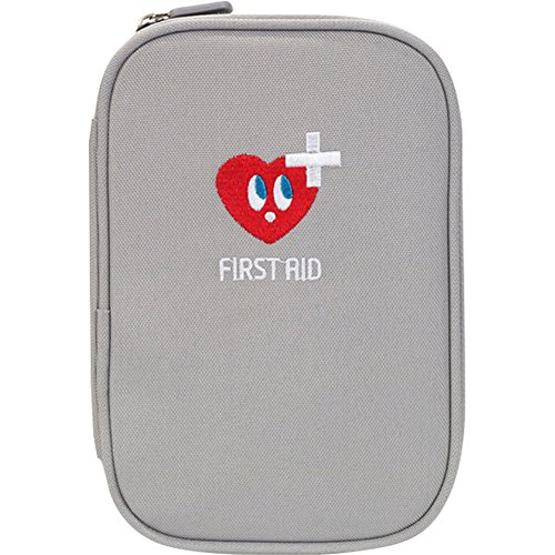 Lanticy First Aid Kit Portable Empty First Aid Pouch Mini Medicine Bag Oxford cloth Medical Survial Kit Pocket Handy Travel Pills Drugs Package Container Organizer for Home or Outdoor (Cold gray) by Lanticy
