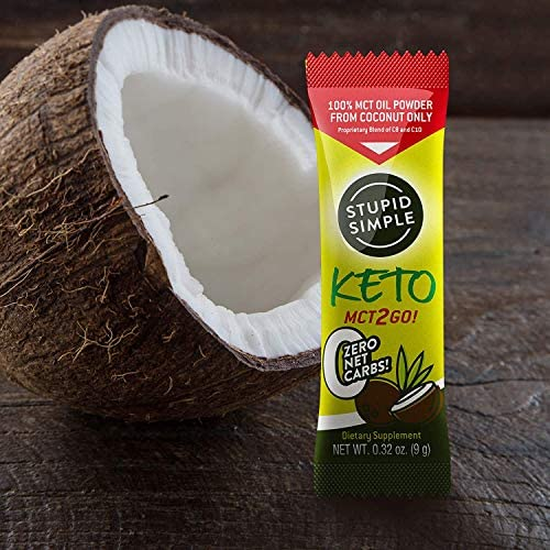 Stupid Simple Keto MCT2Go! 100% MCT Oil Powder from Coconut C8 and C10 Blend, Zero Net Carbs (7 Packets) Great for Pre-Workout, Appetite Control, and Mental Performance 9