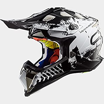 LS2 MX470 SUBVERTADOR INTRUSO Casco de Motocross - Negro Blanco L(59-60cm)