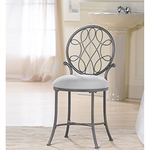 bathroom vanity chair rail stool gray for with wheels