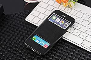 BlueFinger PU Leather Wallet Flip Cover Case for Apple iPhone 6 with 4.7-inch Black