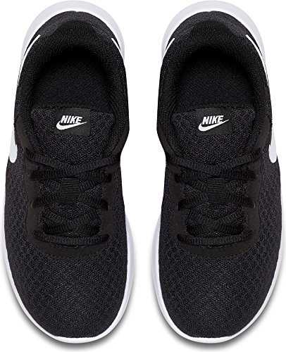 Nike Boy's Tanjun Running Sneaker Black/White-White, 12.5 Little Kid