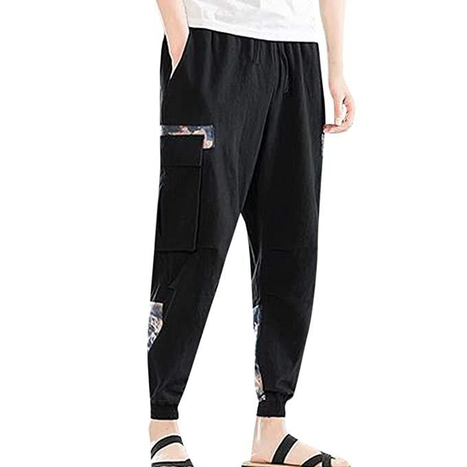 Cocoty-store Pantalones 2019 Pantalones de Hombre Casuales Chino ...