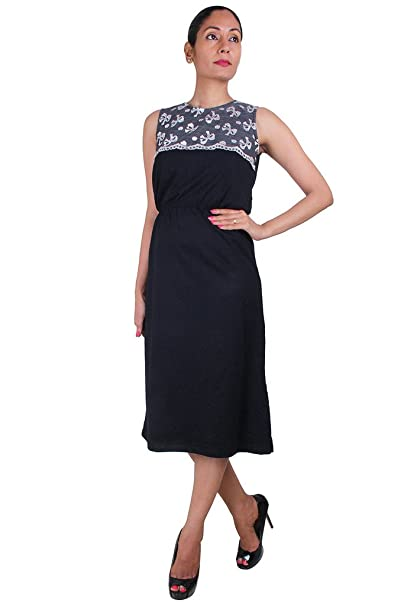 a99afe663d83 Smart casual Dress, Black, XL - for Women: Amazon.in: Clothing & Accessories
