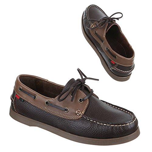 Ital-Design - Zapatos Hombre Marrón - marrón oscuro