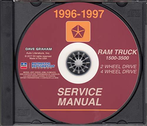 1996-1997 Dodge Ram 1500-3500 Truck Repair Shop Manual CD