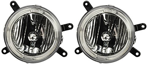 Spec-D Tuning LF-MST05H-TM Ford Mustang Gt Chrome Halo Fog Lights Lamps