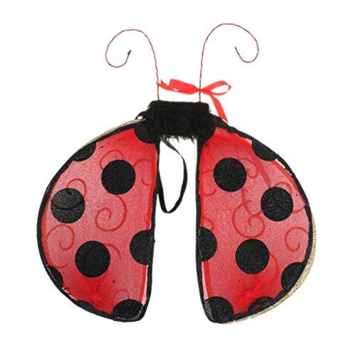 Dressing Up Fairies (dailymall Lady Girls Kids Christmas Ladybird Bee Fairy Wings Fancy Dress Dressing Up Wings - Ladybird, as)