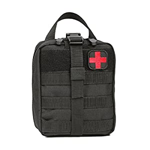 Orca Tactical MOLLE Rip-Away EMT Medical First Aid Pouch (Bag Only) (Black)