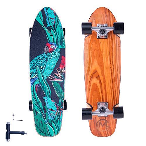 FlyBeeSKOCHO-Complete-Standard-Cruiser-Skateboards-for-Teens-Adults-Beginners-Mini-Short-Skateboard-Deck-