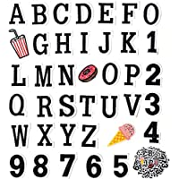 65 Pieces Iron on Letter Patches, Alphabet Applique Patches, Sew on Appliques with Embroidery Patch A-Z&0-9, Decorative…