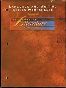 Elements fifth teacher edition course of literature pdf