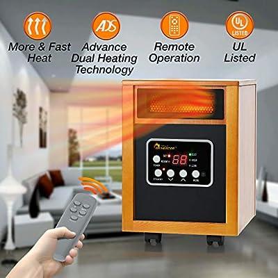Amazon Com Dr Infrared Heater Portable Space Heater 1500 Watt Home Kitchen