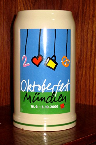 Official 2000 MUNICH OCTOBERFEST Beer Stein Mug (MUNCHEN OKTOBERFEST) RASTAL