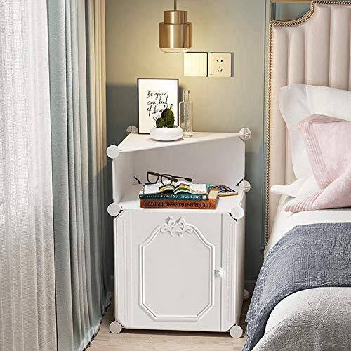 White Nightstand Night Stand Bedside Table Nightstands Bedroom Furniture Small End Tables Bed Side Stands Bedrooms Storage Cabinet Organizer For Kids Dorm Room Apartment Tier 1 Amazon In Home Kitchen