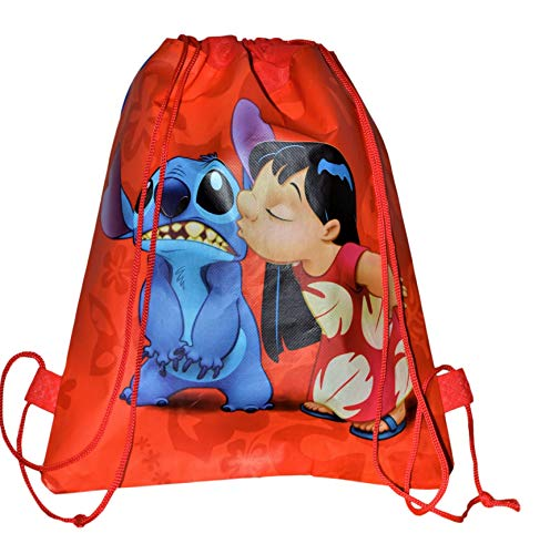 1 x Stitch Non-Woven Drawstring Gift Party Favor Sackpack 14
