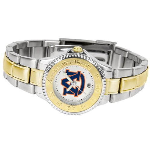 (Auburn Tigers Competitor Ladies Watch with Two-Tone Band )