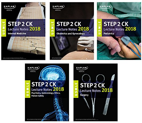E.B.O.O.K USMLE Step 2 CK Lecture Notes 2018: 5-Book Set (USMLE Prep) T.X.T