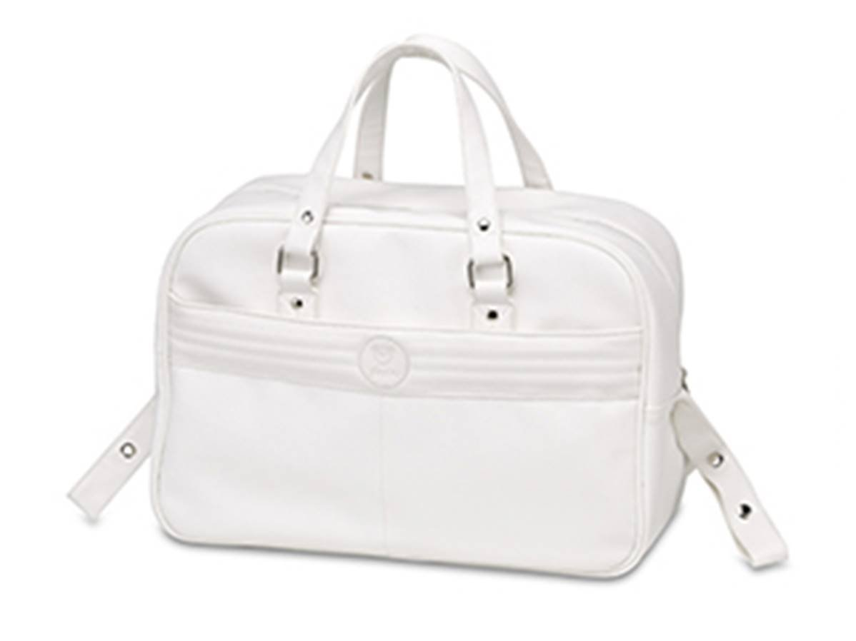 pirulos 29190001–Bag ECO-Leather and Changing Mat, White