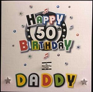 Happy Birthday Card Daddy 50th Birthday Handmade Card Amazon