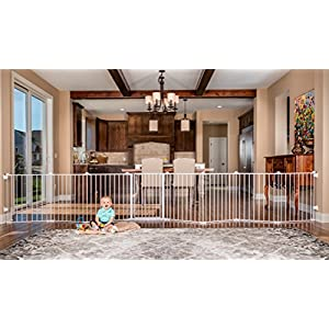 Regalo 192-Inch Super Wide Adjustable Baby Gate and Play Yard, 4-In-1, Bonus Kit, Includes 4 Pack of Wall Mounts 16