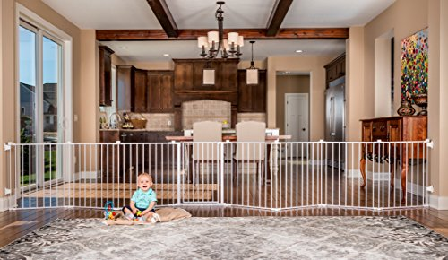 Regalo 192-Inch Super Wide Adjustable Baby Gate and Play Yard, 4-In-1, Bonus Kit, Includes 4 Pack of Wall Mounts (Swing Patio Doors Double)