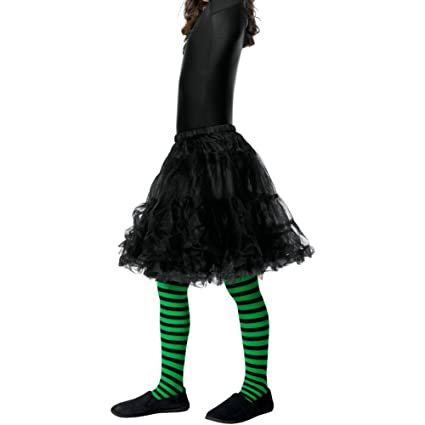 2f244bf5e93a4 Image Unavailable. Image not available for. Color: Smiffy's Wicked Witch  Tights, Green/Black ...