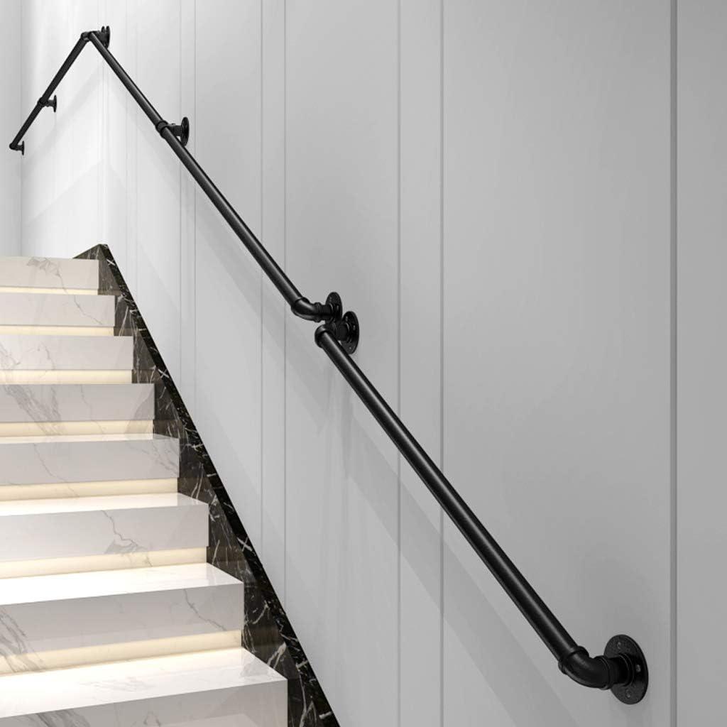 M/étal Noir Fer forg/é S/écurit/é Main Courante pour escalier Int/érieur ext/érieur Kit de Support de Rampe descalier Garde-Corps de Rampe Escaliers Poign/ée Rambarde de s/écurit/é