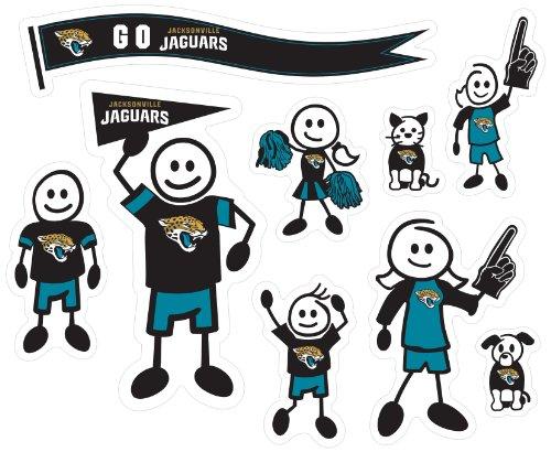 Siskiyou NFL Jacksonville Jaguars Large Family Decal ()