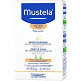 Mustela Gentle Soap, Baby Bar Soap with Cold Cream, Ceramides and Natural Avocado Perseose, for Dry Skin, 5.29 Oz.