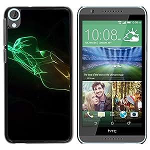 Smartphone Rígido Protección única Imagen Carcasa Funda Tapa Skin Case Para HTC Desire 820 Design Minimalist Colors / STRONG