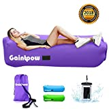 Inflatable Lounger, Gaintpow Waterproof Air Lounger with Thicker Fabric, Portable Lazy Lounger Inflatable Sofa Couch, Outdoor Sofa for Camping, Hiking, Swimming Pool, Beach, Backyard, Travelling, 2018 Improved Version - Hold Up To 500lb (Purple)