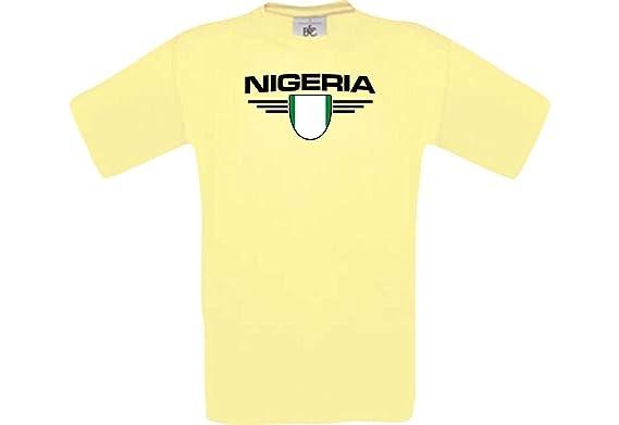 Shirtstown Man Camiseta Nigeria Camiseta de País con Su Nombre ...