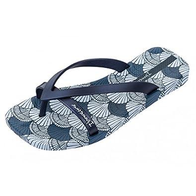 51a76184940a8 Ipanema Fashion Kirey Navy Blue Shell Print Flip Flops  Amazon.co.uk  Shoes    Bags