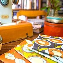 Designer 100% Cotton Quilting Fabric Fat Quarter Bundle - Retro Flowers - Designed & Printed in the UK