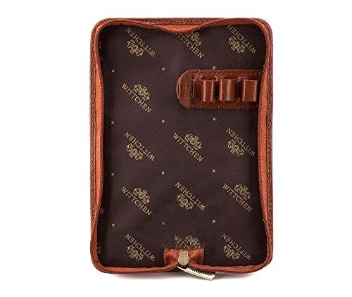 WITTCHEN Fall   5.5x16 cm   Narbenleder, Braun   Handmade, Kollektion: Italy - 21-2-001-5