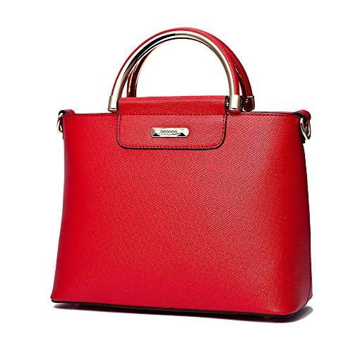 Deerword Womens Handbags Backpack Shoulder Bags School Backpack Handbags Laptop Bag Pink Leather Burgundy