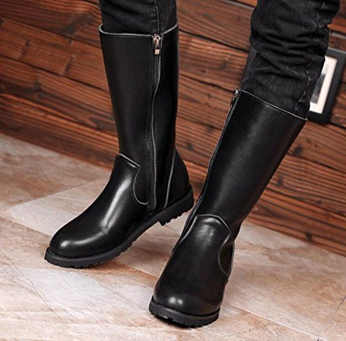 alti uomo pelle 44 locomotiva dimensioni in stivali da WSK Stivali grandi lunghi punk stivali Martin cowboy impermeabili da scarpe di stivali qIxgx4Ya