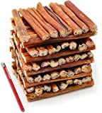 ValueBull Bully Sticks Dog Chews, 6 Inch Thick, All Natural, 100 Count