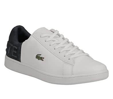 7d6083b30c0440 Lacoste Carnaby EVO 318 2 QSP Trainers in White   Navy Blue 736SPM0044 042   UK 6 EU 39.5   Amazon.co.uk  Shoes   Bags
