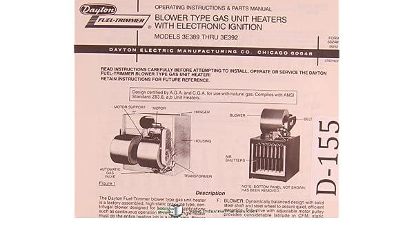 Dayton Blower Type Gas Unit Heaters, Electronic Ignition ... on