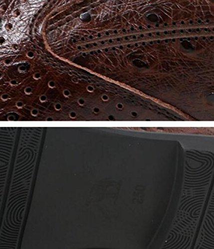 Lacci morbide Scarpe in Basse Uomo Brown Pelle Gomma Scarpe Scarpe da da Senza Casual di Uomo Pqa6n8p