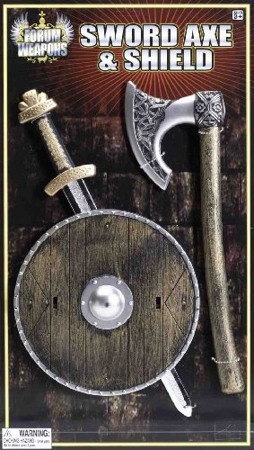 Forum Novelties Child Viking Sword, Ax and Shield Costume Accessory]()