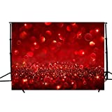 DODOING Valentine's Day Backdrops for Photography 7x5FT Dark Red Glitter Light Spots Bokeh Wall Bling Shine Sparkle Dots Backgrounds Kid Baby Artistic Portrait Wedding Photo Studio Props Backdrop