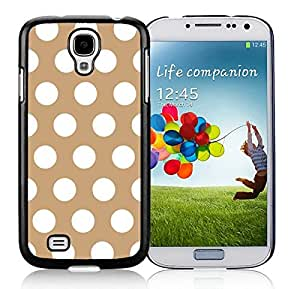 Element Polka Dot Brown and White S4 Case Best Samsung Galaxy S4 I9500 Case Black Cover
