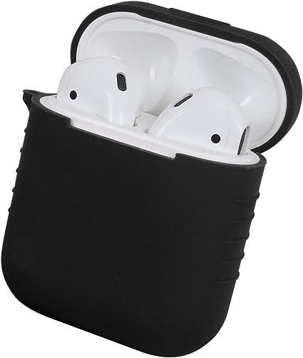 Leeko Funda de protección para Apple AirPods, Estuche de Silicona suave a Prueba de Golpes Para la caja de carga de AirPods - 8 colores (black): Amazon.es: Instrumentos musicales