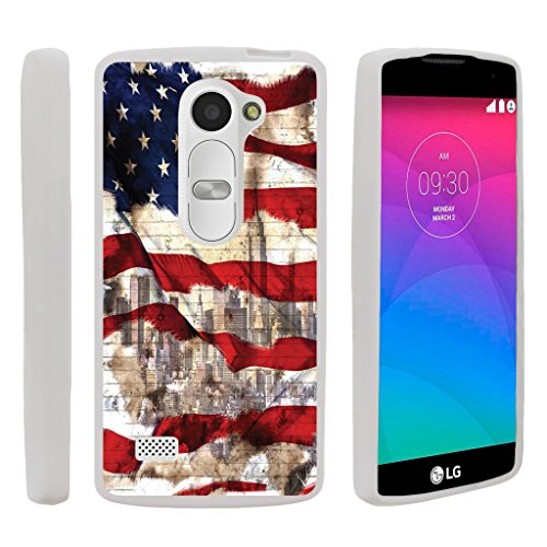 LG Leon Slim Case, LG Destiny Cover [FLEX FORCE] Slim Durable TPU Sleek Bumper with Art Pattern Designs by Miniturtle - New York USA - New Destiny York Usa