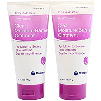Critic-Aid Clear Moisture Barrier Ointment - 6 Ounce Tube - Pack of 2