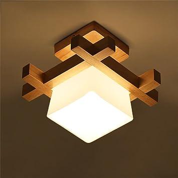 Niños lámparas de techo de la sala de cepillo madera lámpara de ...