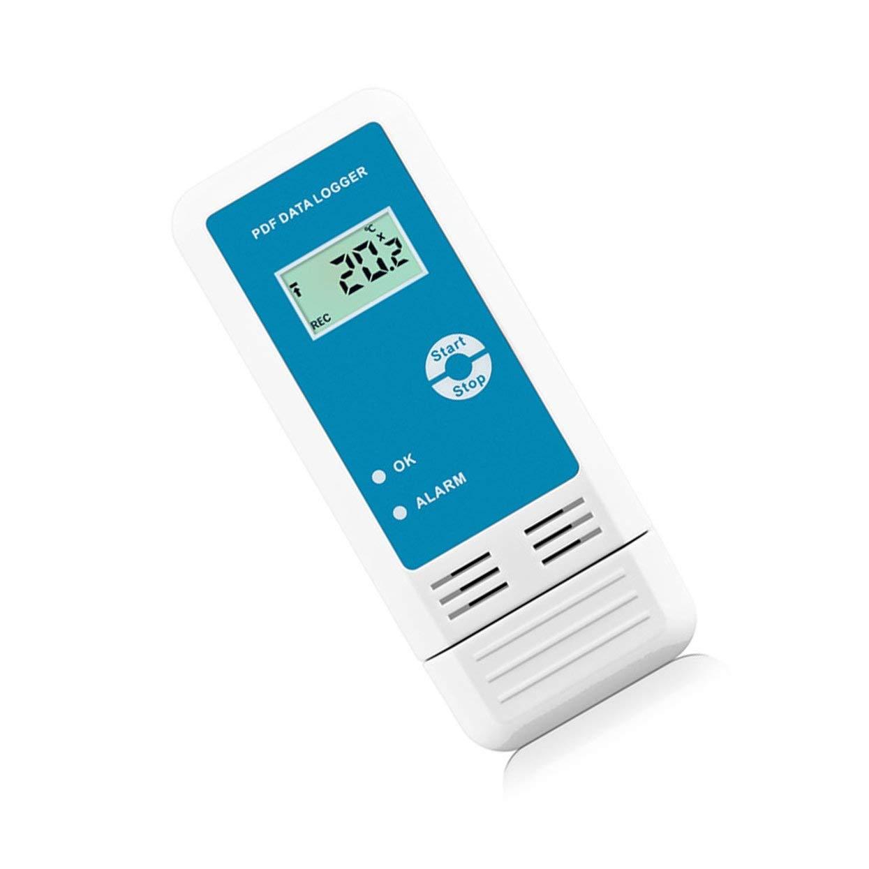 YMUP-20 - Grabadora de temperatura y humedad PDF LCD IP54, resistente al agua, USB, detector de datos, termómetro, higrómetro: Amazon.es: Coche y moto